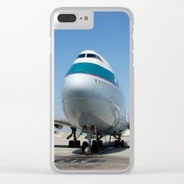 Cathay 747-400 at LAX Clear iPhone Case
