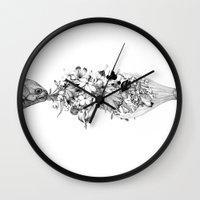 return Wall Clocks featuring Return by Sungwon