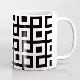 Geometric Pattern 33 (square loop) Coffee Mug