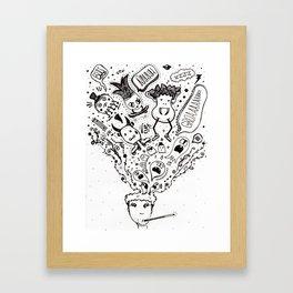 bad mood Framed Art Print