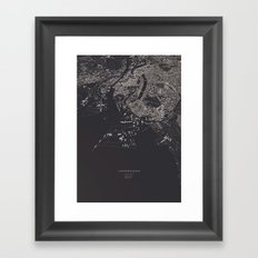 Copenhagen city map Framed Art Print