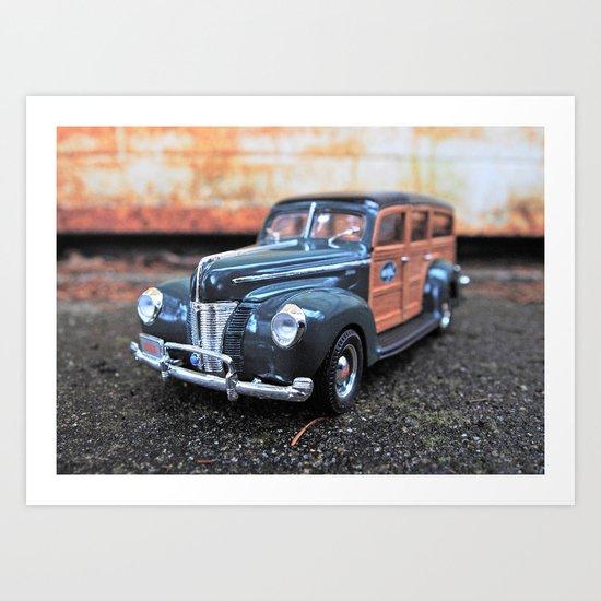 Woody details Art Print