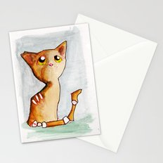 Orange Zombie Kitty Stationery Cards