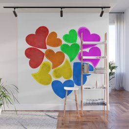 Rainbow Love Wall Mural