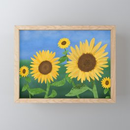 Sunflower Day Framed Mini Art Print