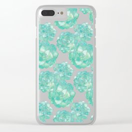 Rosette Succulents – Mint Palette Clear iPhone Case