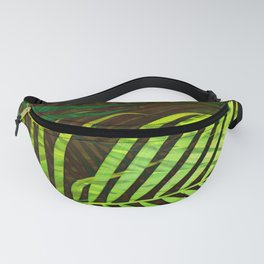 TROPICAL GREENERY LEAVES no8a Fanny Pack