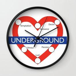 Love Underground Wall Clock