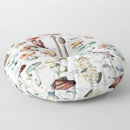 Adolphe Millot - Champignons pour tous - vintage poster Floor Pillow