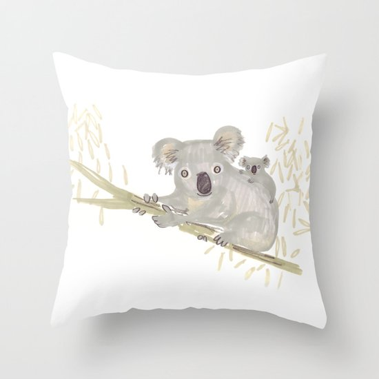 Koala & baby Throw Pillow