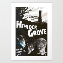 Hemlock Grove Vintage Poster Art Print