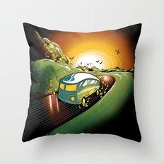 Killer Road Trip  Throw Pillow