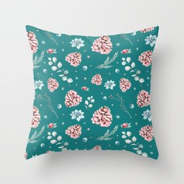 Holidays pattern 2 Throw Pillow