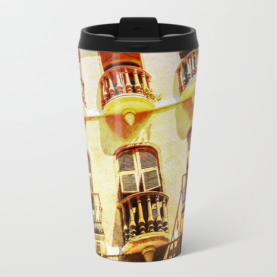 Gibraltar balconies Metal Travel Mug