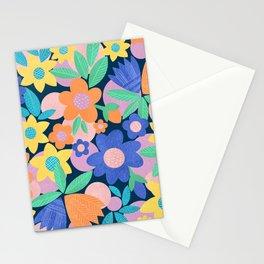 Spring Mod Flowers Pattern Stationery Cards