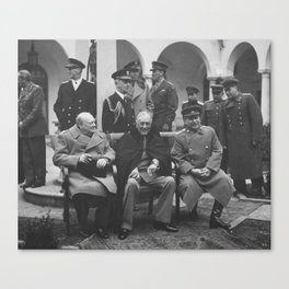 Churchill, Roosevelt, and Stalin - The Big Three Canvas Print