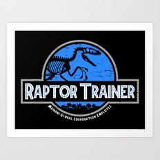 Raptor Trainer Art Print
