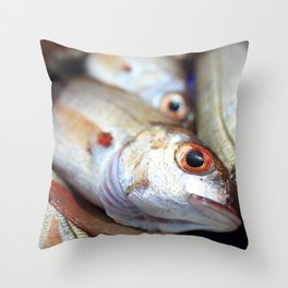 Fresh catch Throw Pillow