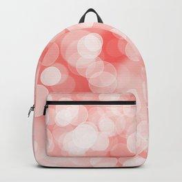 Coral Bokeh Backpack