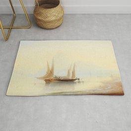 Ivan Aivazovsky - Barge at Sea Shore Rug