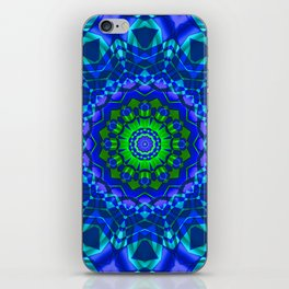 green blue kaleidoscope iPhone Skin