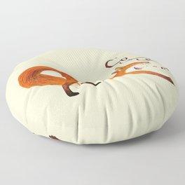 Coffee Fox Floor Pillow
