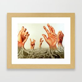 Handscape Framed Art Print