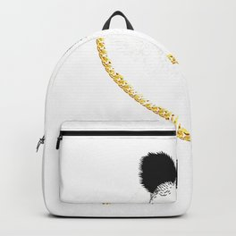Gangster Panda Golden Chain Shirt  Cool Bear Cat Funny Gift Backpack