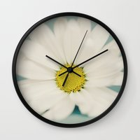 daisy Wall Clocks featuring DAISY  by Laura Ruth
