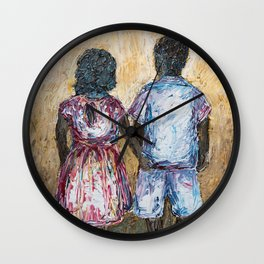 Brother and Sister Wall Clock