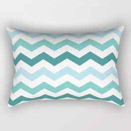 Chevron forest Rectangular Pillow