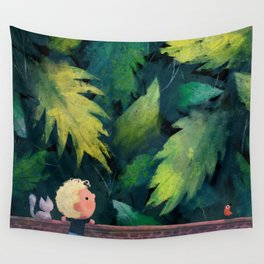 Over the Wall and Into the Garden Wall Tapestry
