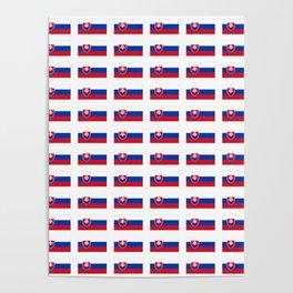 flag of slovakia -,Slovak,Slovensko,Eslovaquia,eslovaco, Czechoslovakia, Bratislava, Košice Poster