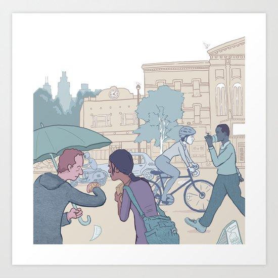 Street Time Art Print