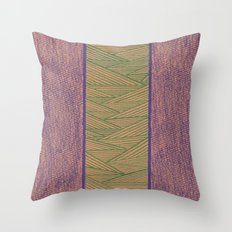Green and Purple Throw Pillow