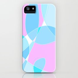 Abstract Wavy Visual Graphic Design V.5 iPhone Case