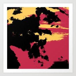 Ishitaro - Abstract Colorful Batik Boheme Art Art Print