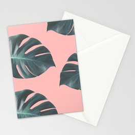 Oversized Palm in Pink Stationery Cards