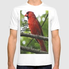 Go Birds White SMALL Mens Fitted Tee