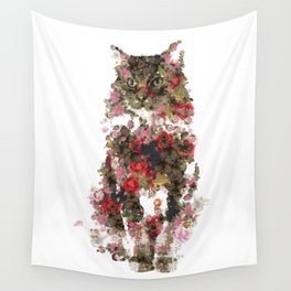 Portrait of a vintage cat  Discover Wall Tapestry