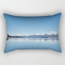 Blue line landscape Rectangular Pillow