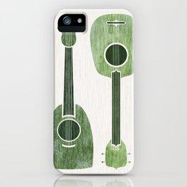 Hawaiian Ukuleles - Emerald Green iPhone Case
