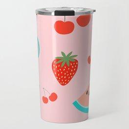 Fruit Salad (Pastel Pink) Travel Mug