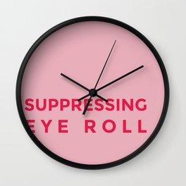 Suppressing eye roll Wall Clock