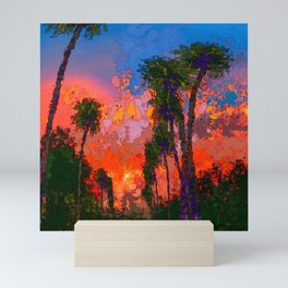 Orange Sunset Mini Art Print