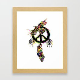 Peace dream cather Framed Art Print