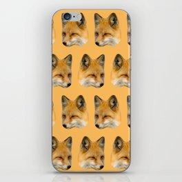 nature orange autumn forest animal red fox iPhone Skin