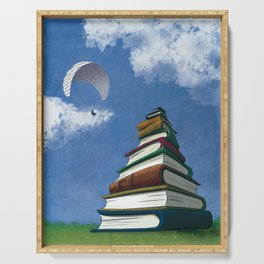 Paragliding - Mountain of Books Serving Tray