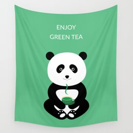 Enjoy green tea Wall Tapestry