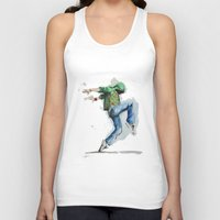 dancing Tank Tops featuring dancing by digiartpicture